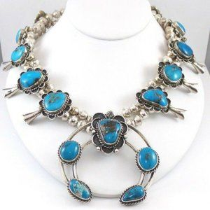 L.G.Sterling Silver Turquoise Necklace